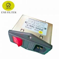 普鑫原廠直銷電源濾波器插座保險開關一體式濾波器