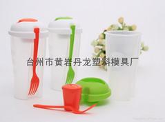 塑料水果蔬菜沙拉杯