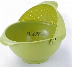 塑料水果洗菜滴水籃子