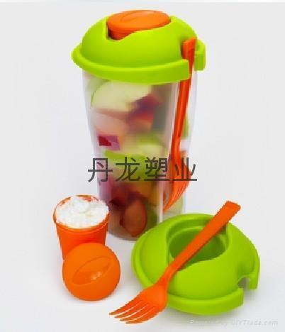 塑料色拉杯 salad cup 1