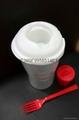 塑料色拉杯 salad cup 2