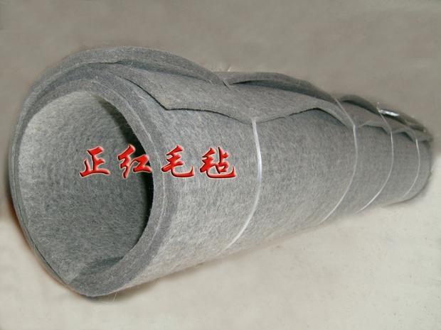 灰色工業毛氈吸油密封吸音耐溫毛氈防塵防震耐壓 1