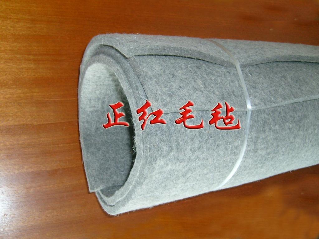 灰色工業毛氈吸油密封吸音耐溫毛氈防塵防震耐壓 4