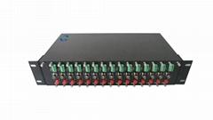 2U铝合金双电源插卡式光端机机箱