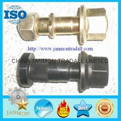 Customized High Strength Yellow Zinc Plated Wheel Bolts and Nut For Tractor