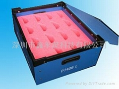 防静电导静电中空板周转箱