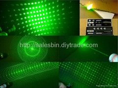 200mw High power  5-in-1 green laser pointer/laser pen burn matche+free shipping