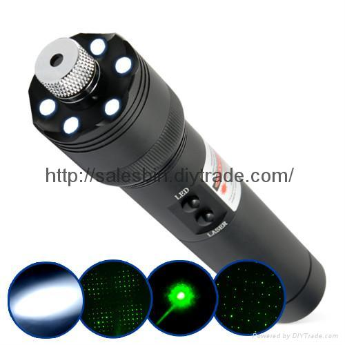 200mw High power  Green laser pointer+LED flashilight+burn matches FREE SHIPPING 1