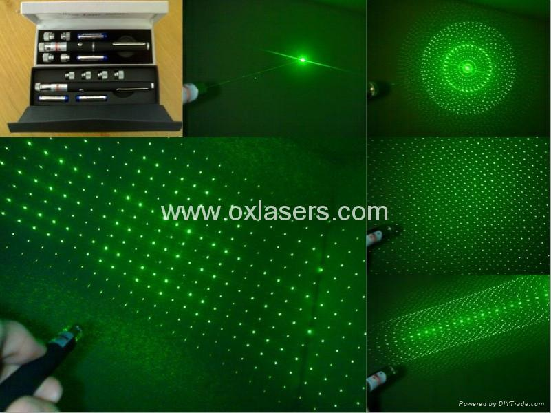 100mw 5 In 1 Green Laser Pointer Laser Pen Star Pointer