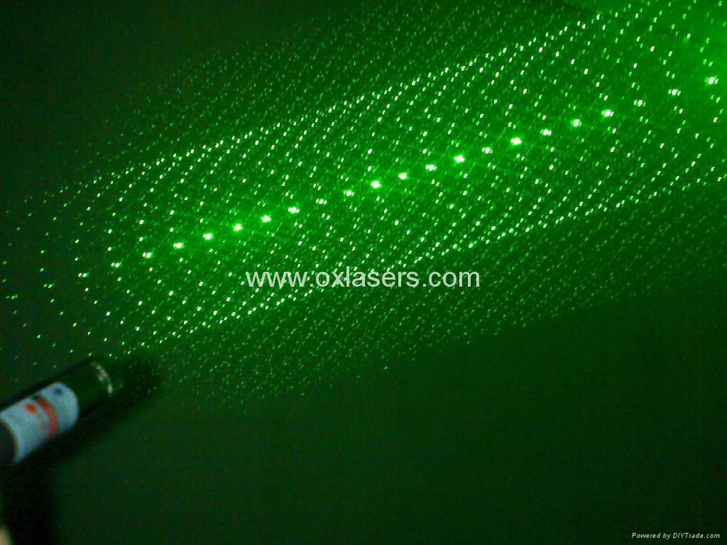 100mw 5-in-1 green laser pointer/laser pen/star pointer Free shipping 5