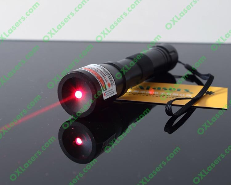 200mw 660nm high powered water proof red laser pointer with focusable lens burns 1