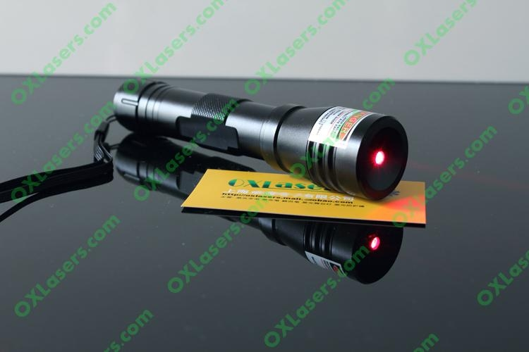 200mw 660nm high powered water proof red laser pointer with focusable lens burns 2