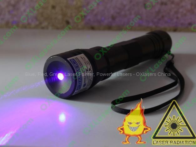 200mw 405nm Violet Blue Laser Pointer Ajustable Purple