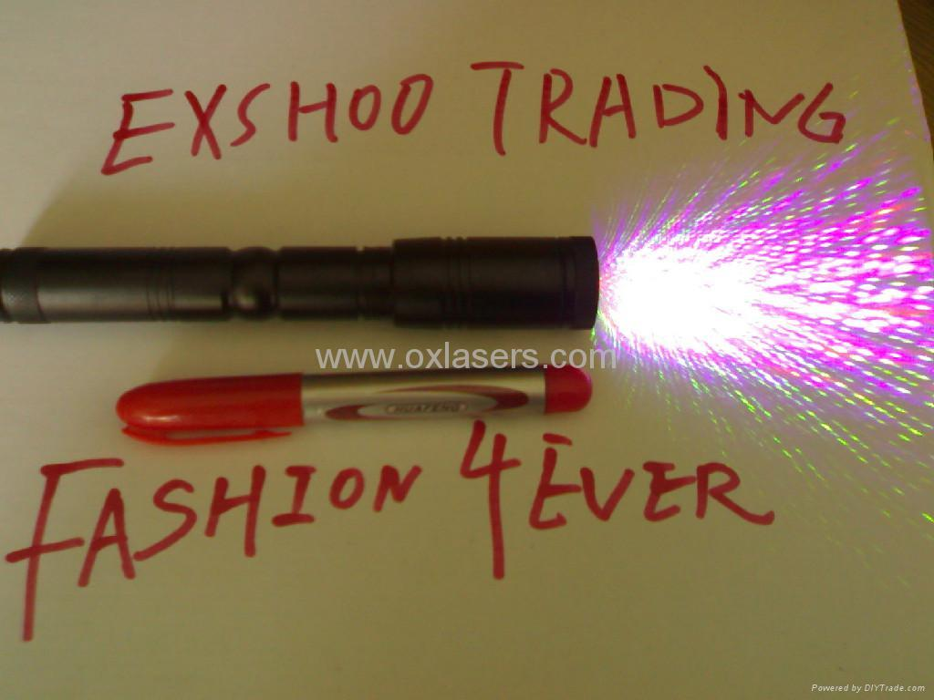 100MW  RGB laser pointer/red laser+green laser+purple laser/free shipping 2