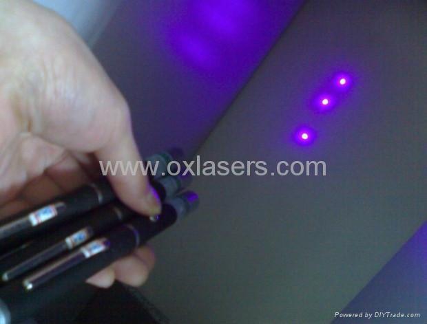 5mw 405nm violet blue purple laser pointer/purple laser pen Free Shipping 1