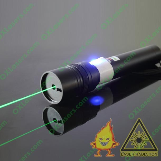 100mw green laser pointer/focusable laser pointer light matches + free shipping 1