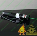 100mw green laser pointer with focusable lens light maches/free shipping
