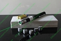 10mw green laser pointer with 5 heads/green laser pointer / laser pen free ship 2