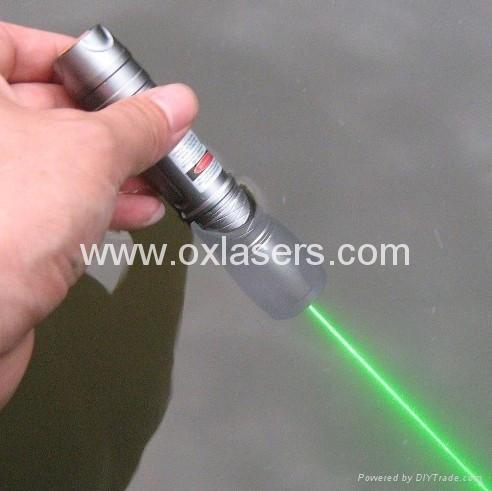 100mw underwater green laser pointer flashlight style LASER TORCH /free ship 1