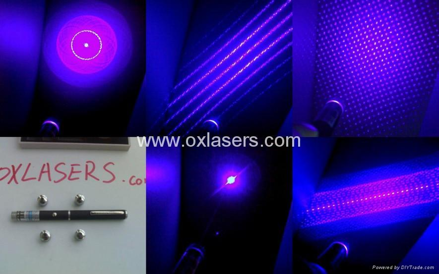 50mw 405nm 5 in 1 violet blue laser pointer/purple laser pointer  free shipping 1
