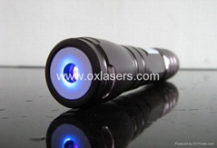 200mw high power waterproof burning blue viole laser pointer with focusable lens