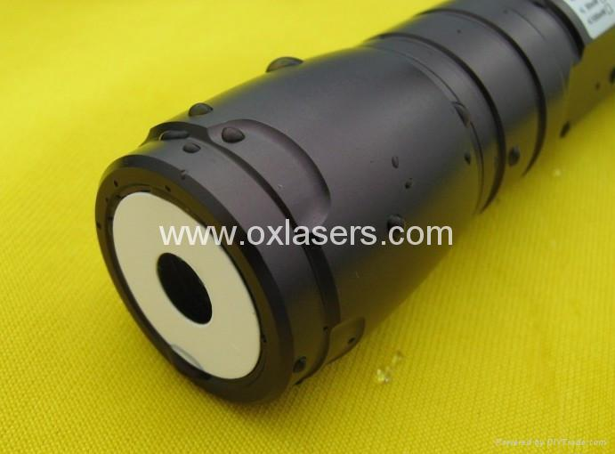 200mw high power waterproof burning blue viole laser pointer with focusable lens 2