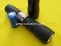 200mw high power waterproof burning blue viole laser pointer with focusable lens 4