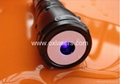 200mw high power waterproof burning blue viole laser pointer with focusable lens 5
