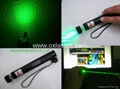 100mw 532nm protable green laser pointer with lock and star caps burn matches