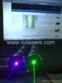 200mw handheld burning waterproof green laser pointer +adjustable lens+free ship 2