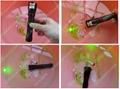 200mw handheld burning waterproof green laser pointer +adjustable lens+free ship 3