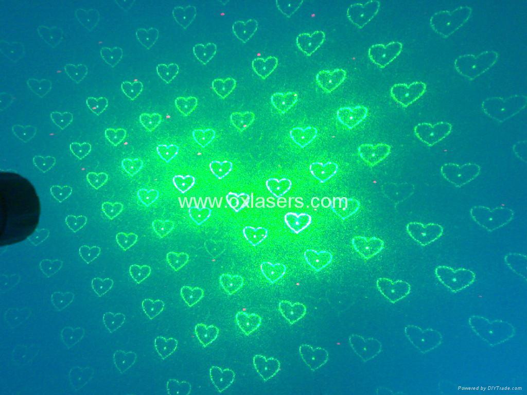 hand-held protable sound active green red laser light/laser kaleidoscope 3