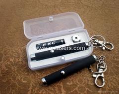 10mw 532nm  1.5v mini keychain green laser pointer/green laser pen free shipping