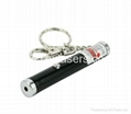50mw 1.5v green laser pointer with key chain/green laser pen free shipping  2