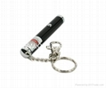 50mw 1.5v green laser pointer with key chain/green laser pen free shipping