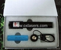 100mw focusable burning  green laser pointer light maches/free shipping 2