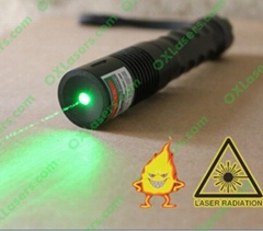 100mw 532nm hand held focusable green laser torch/burning laser light matches