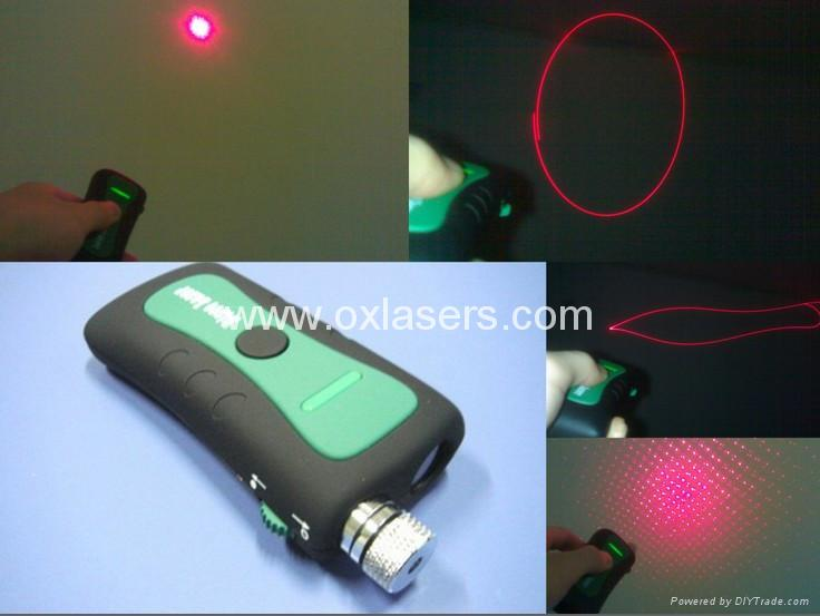 100mw 660nm 3 in 1 red laser pointer/ red disco laser/ red laser free shipping 1