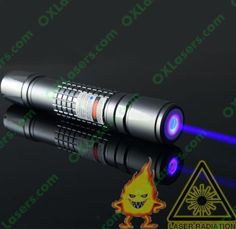 1000mW 445nm waterproof focusable true blue laser pointer burning torch 1