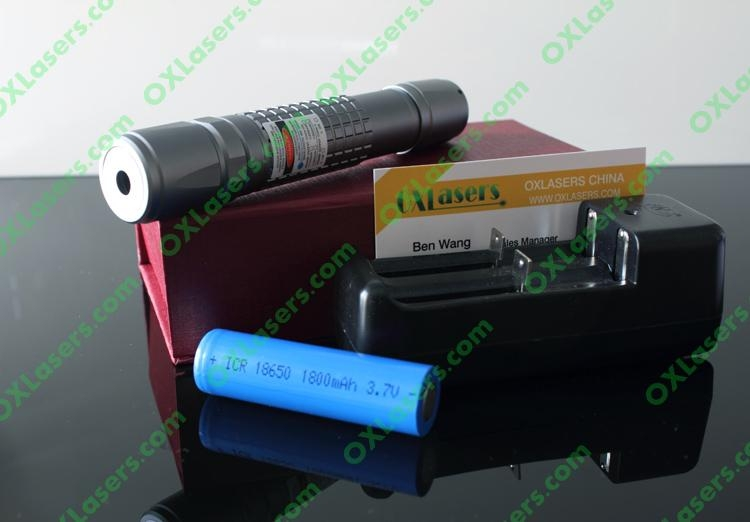 1000mW 445nm waterproof focusable true blue laser pointer burning torch 5