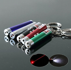 5mw 2in1 led red laser pointer/ keychain