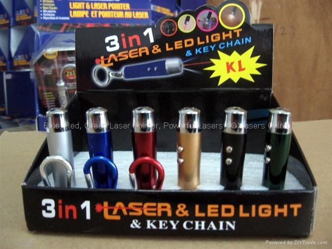 wholesale 3in1 keychain 5mw red laser pointer+white led + uv light FREE SHIPPING 3
