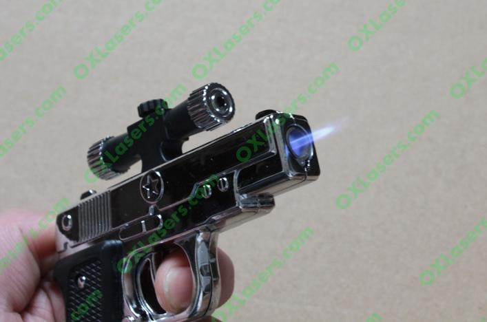 New Gun lighter laser ( Cigar lighter +5mw  red laser pointer) free shipping 4