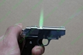 Super MINI Gun Pistol style lighter with 5mw red laser pointer FREE SHIPPING 3