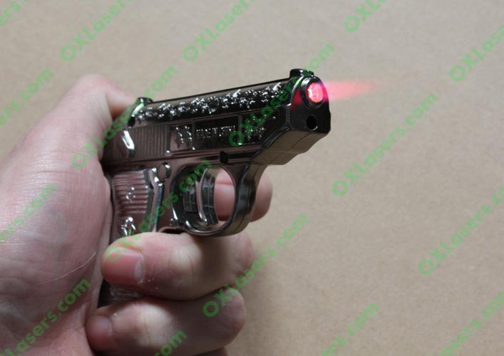 Gun Lighters with 5mw 650nm red laser pointer/ pistol lighter laser free shippin