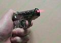 Gun Lighters with 5mw 650nm red laser pointer/ pistol lighter laser free shippin