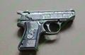 Gun Lighters with 5mw 650nm red laser pointer/ pistol lighter laser free shippin 4