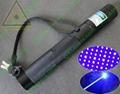 445nm 1000mw focusable burning blue laser pointer with star cap and key lock