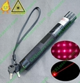 200mw burning  focusable red laser pointer flashlight with keylock and star cap