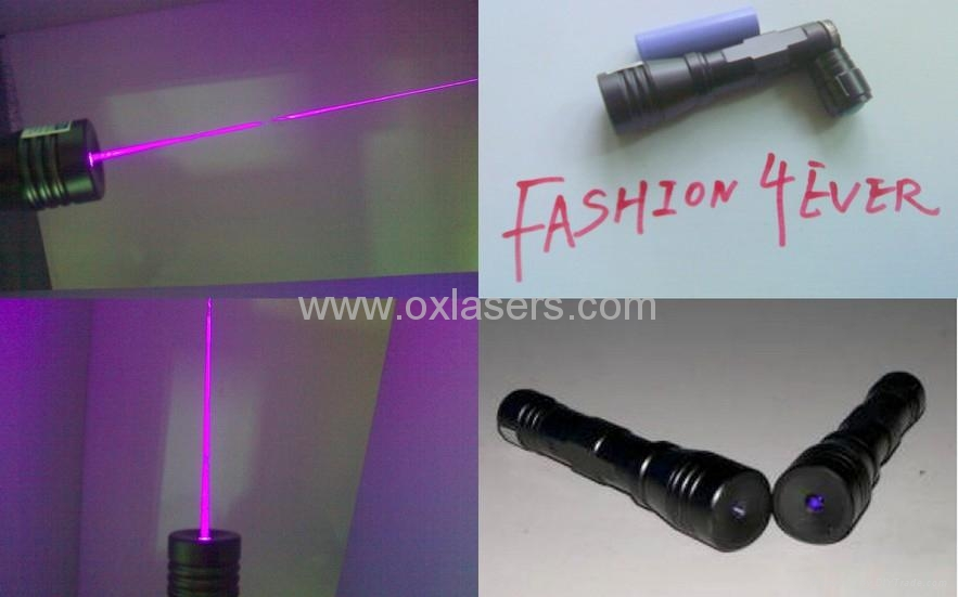 100mw 405nm focusable purple uv laser pointer torch burn matches free shipping